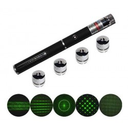 Green Laser Pointer 5 Head - 5 macam sinar