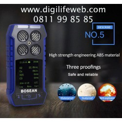 Multi Gas Detector Bosean 4 in 1 BH4S - Deteksi O2 CO H2S LEL