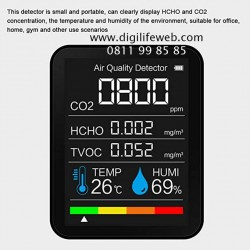 Air Quality Monitor - CO2 HCHO TVOC Humidity Temperature