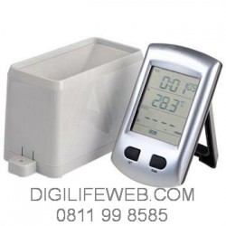 "Wireless Rain Gauge With Temperature &  2.7"" LCD"
