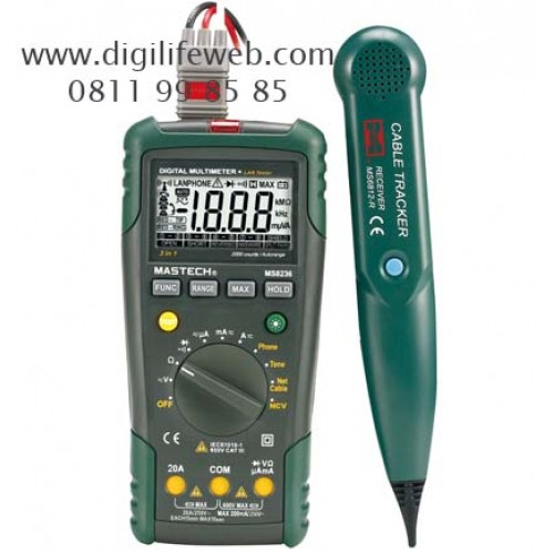 Digital Multimeter Ma : Digital multimeter mastech ms with cable tracker