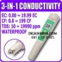 EC Conductivity + CF + TDS 3 in 1 meter for Hydroponic