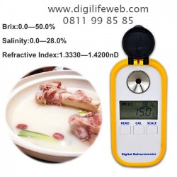 Digital Refractometer 2 in 1 Brix 0-50% Salinity 0-28% DR902