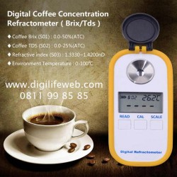Digital Coffee Refractometer Brix 0-50% TDS 0-25%