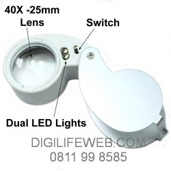 Loupe 40X Zoom - 25mm with LED Light