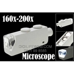 Mini Microscope 160-200x zoom with LED