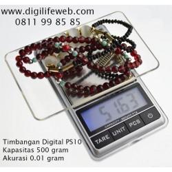 Timbangan Digital PS10 - Akurasi 0.01 gram. Kapasitas 500 gram
