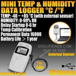 Humidity and Temperature Data Logger USB Elitech RC-4HC