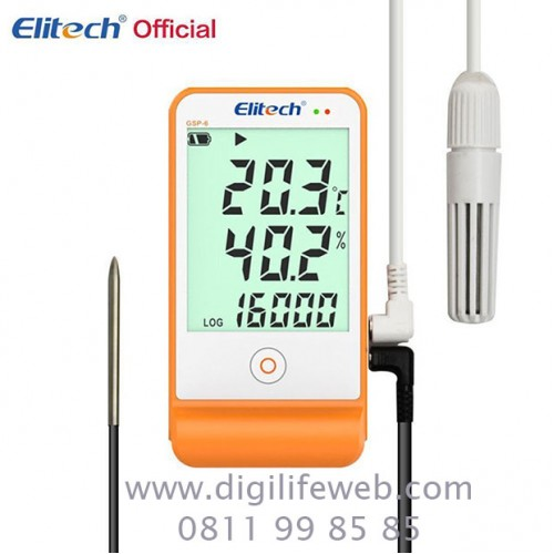 Humidity & Temperature Data Logger Elitech GSP-6