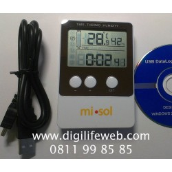 Temperature Humidity Data Logger MiSol DS102